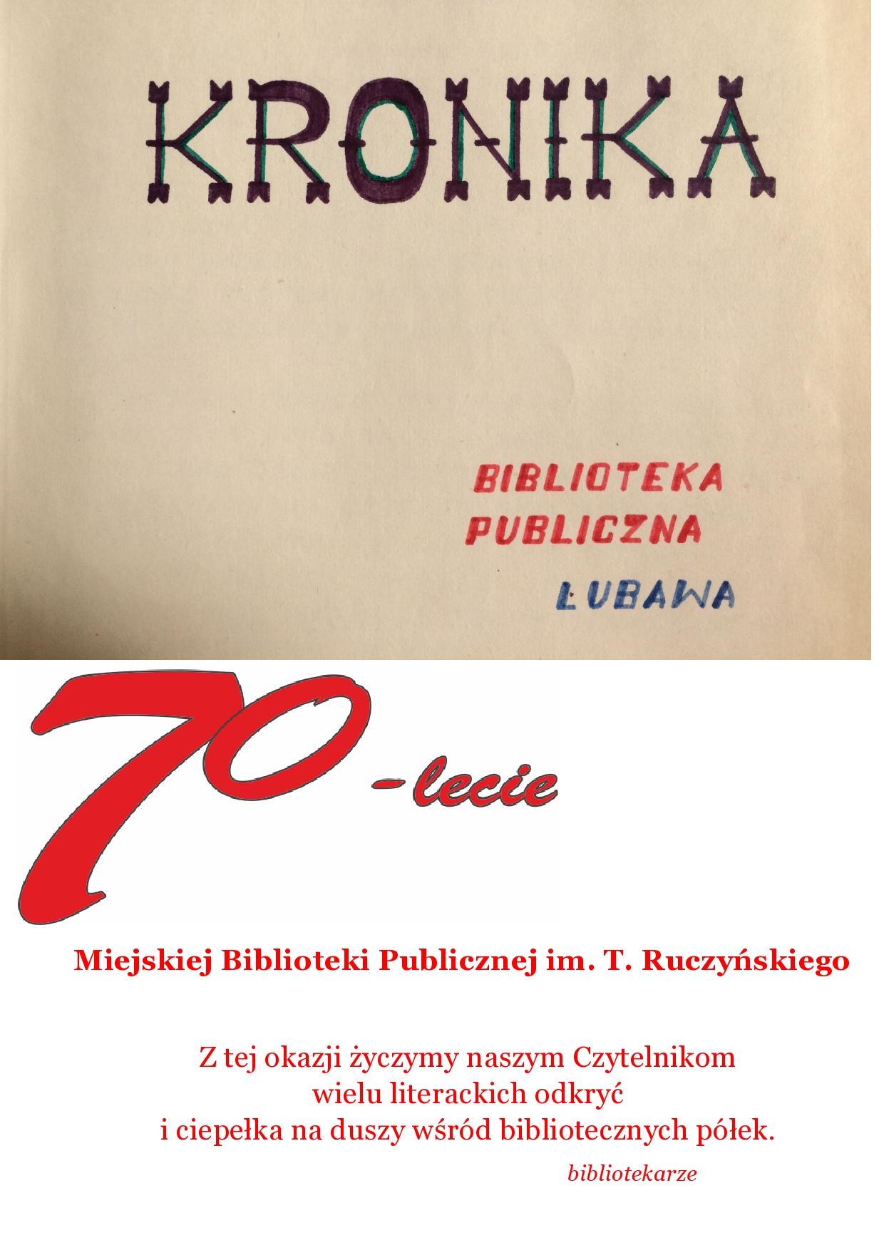 70-lecie Miejskiej Biblioteki Publicznej w Lubawie :)
